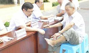 (图:张政主任参加抗战胜利70周年义诊活动)