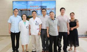 蒙兴文主任受邀赴上海第六人民医院交流强直性脊柱炎规范化诊疗与其风湿科主任汪年松教授及医生组合影